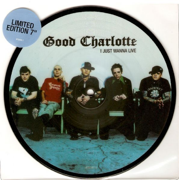 GOOD CHARLOTTE I Just Wanna Live Vinyl Record 7 Inch Epic 2004 Picture Disc